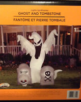 Brand new ghost and tombstone