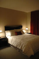 Appartement meublé , Location au mois reviens à 43.00$/jour