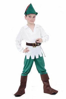 Kostüme Für Läufer (Rebellischer Waldläufer Kinderkostüm für Jungen braun-weiss-grün Cod.173884)