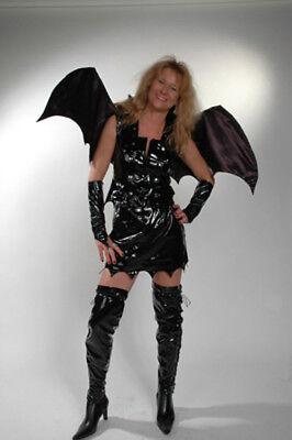 Minikleid Karneval Fasching Halloween Lack Fantasy Kostüm Größenwahl 34-38 F01