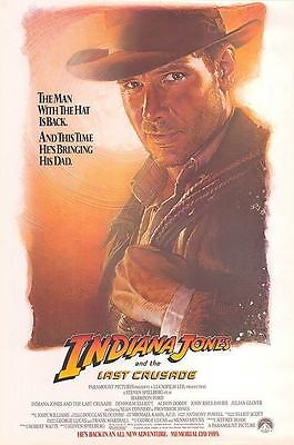 Indiana Jones And The Last Crusade Movie Poster 27X40 New 1994 Harrison Ford