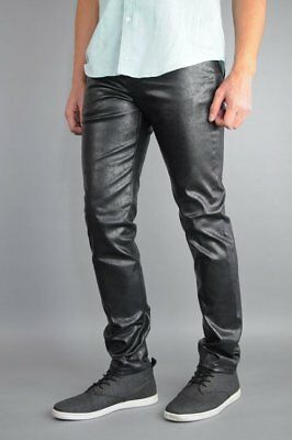 Neo Blue Skinny Jeans Rustic Metal Black 98% Cotton 2% Spandex Made In USA  ()