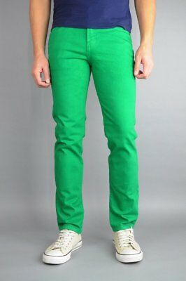 Neo Blue Kelly Green Skinny Jeans 98% Cotton 2% Spandex Made In USA  - Kelly In Spandex