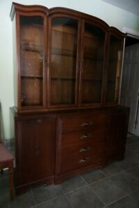 Free! Wonderful, Antique China Cabinet Set, Library, Dining Tbl