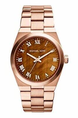 Michael Kors  MK5895 Channing Tigers Eye Dial Rose Gold Tone  Watch