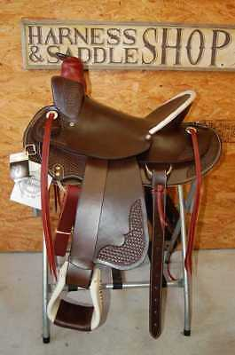 "16"" G.W. CRATE WADE RANCH ROPING SADDLE FREE SHIP NEW Y MADE IN ALABMA USA, used for sale  Shipping to Canada"