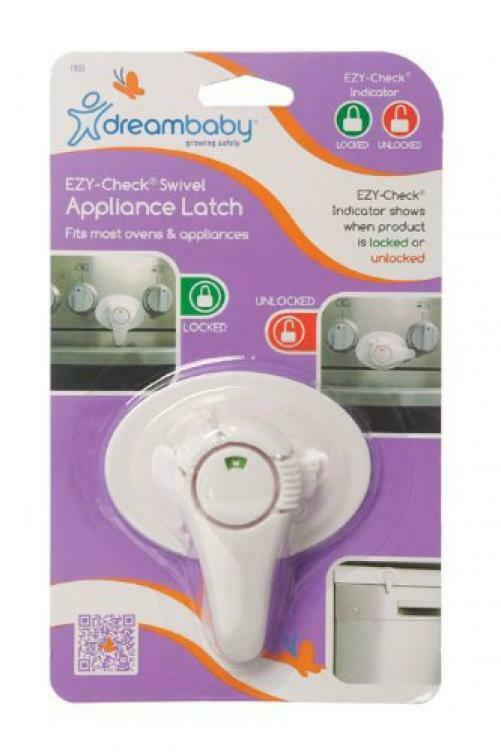 Dreambaby Swivel Oven Lock with EZ-Check Indicator, White 1 Pack