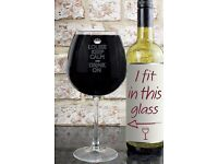 Keep Calm Bottle Of Wine Glass!!
