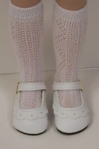 WHITE Classic Doll Shoes For Tonner 14