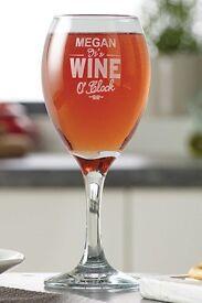 New Wine O'Clock Wine Glass