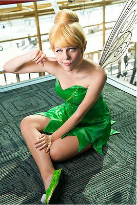 Fairy Tinker Bell Tinkerbell Short Synthetic Hair Wig Wigs for Halloween Cosplay](Fairy Halloween Hair)