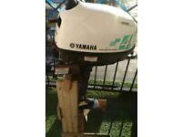 Outboard Yamaha 4hp, 4 stroke.