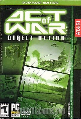 ACT OF WAR Direct Action - Atari Strategy Vintage Windows XP PC Game NEW in BOX!