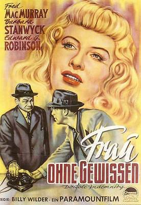 Double Indemnity Movie Poster 11X17 German E Fred Macmurray Barbara Stanwyck
