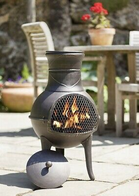 La Hacienda Clifton Chiminea Log Burner Chimney  Patio Heater / Fire Pit 🔥