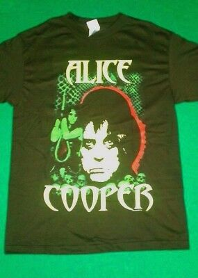 ALICE COOPER GREEN NOOSE IMAGE PIC BLACK T-SHIRT ADULT SIZE MEDIUM NEW OFFICIAL