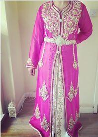 Fuschia Pink Moroccan Takshita/ Kaftan.