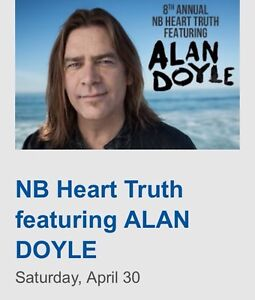 2 tickets to Heart Truth/Alan Doyle at Casino NB