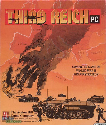 THIRD REICH PC AVALON HILL +1Clk Windows 10 8 7 Vista XP Install