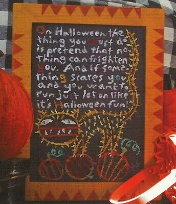 Scary Halloween Poems (HALLOWEEN FUN--Fun Poem--Scary Cat--Pumpkins--Counted Cross Stitch)