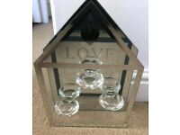 Love themed floating candle holder