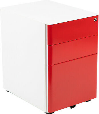 Modern 3-drawer Mobile Locking Filing Cabinet
