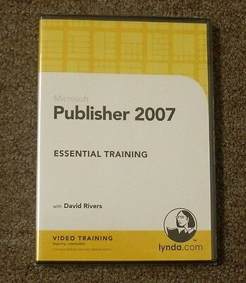 Microsoft Publisher 2007 Essential Training Dvd  By Lynda Com With David Rivers