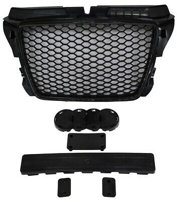 Audi A3 2008 2012 Front Grille Rs Style Black With Gloss Black Surround
