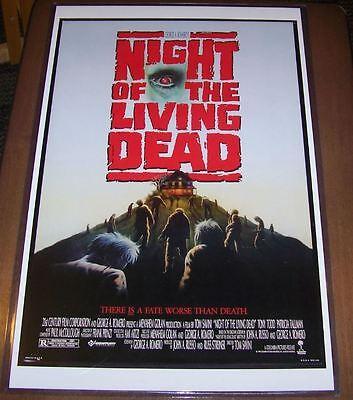 Night of the Living Dead 1990 11X17 Original Movie Poster Tony Todd Tom Savini