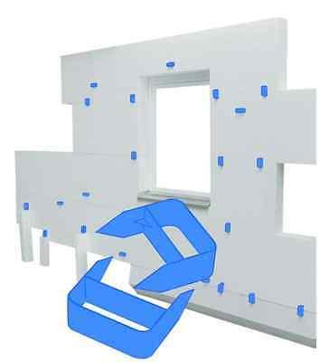 Spewe Universalklammern blau - 40 Stk  Zum vorläufigen Fixieren von WDVS Platten
