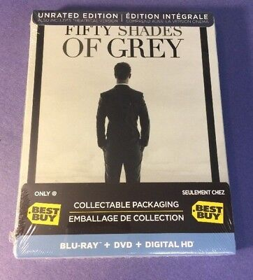 Fifty Shades Of Grey Unrated Edition   Limited Steelbook    Blu Ray Disc  New
