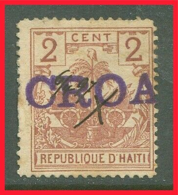 Haiti Postage Stamp Scott 39, Used, Pen Cancelled & Overprinted!! H120