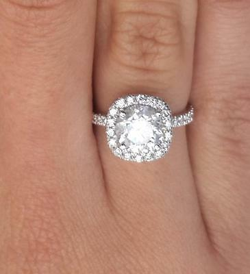 1.75 Round Cut Diamond Engagement Ring  SI1/D 14K White Gold 4267