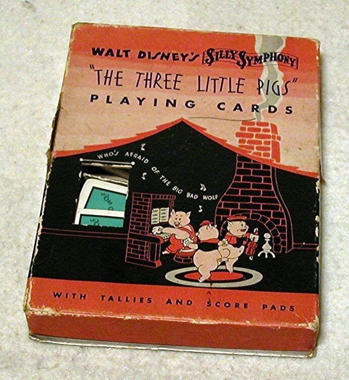 Walt Disney - 1933 The Three Little Pigs -Bridge Playing Card Set #PRICE REDUCED