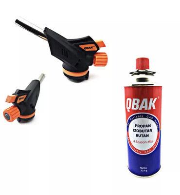 Soplete de Gas soldador Encendido Piezoeléctrico Regulable + Recarga Gas Butano