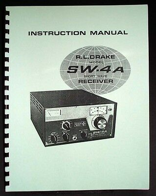 R.ldrake Drake Sw-4a Sw4a Shortwave Receiver Manual