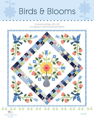 Quilt Pattern ~ BIRDS & BLOOMS ~ By Frances Newcombe CHARM PACK FRIENDLY