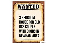 I'm looking for 3 bedroom house with gardens in Newham up-to£1550