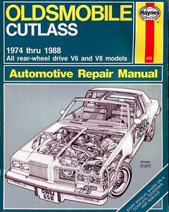 1974-1988 Olds Cutlass shop manual