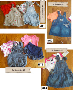 3-6 month girl summer clothing