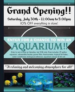 Grand Opening Shuswap Aquariums!