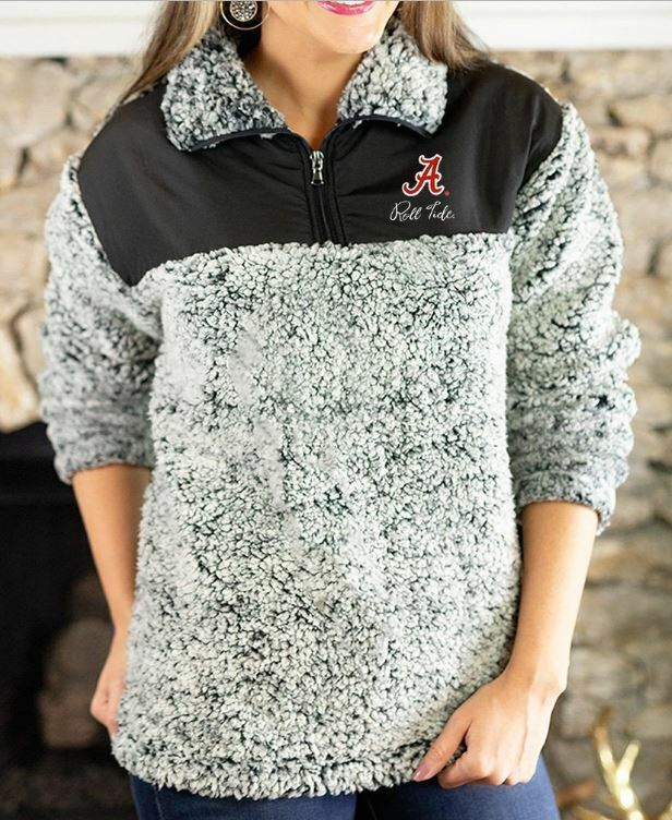 ALABAMA CRIMSON TIDE SHERPA PULLOVER Womens Activewear