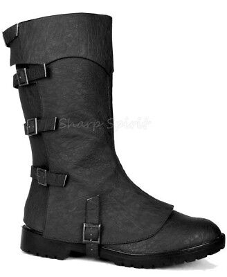 Medieval Boots Mens (Cosplay Medieval Halloween Costume Cosplay Comic Renaissance Gothic Mens)