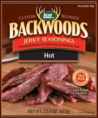 LEM Backwoods Hot Jerky Seasoning & Cure Packet for 25lb ()