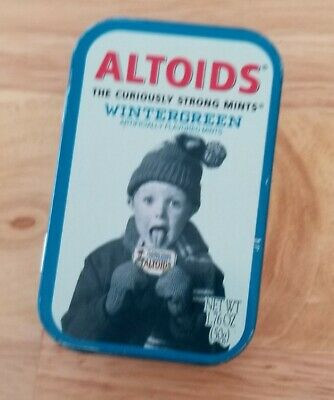 Vintage Altoids The Curiously Strong Mints WinterGreen - Used