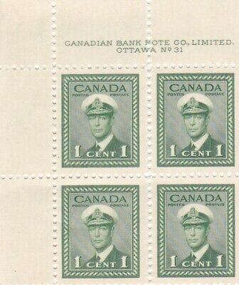 CANADA  #249   UPPER   LEFT  CORNER  BLOCK  # 31