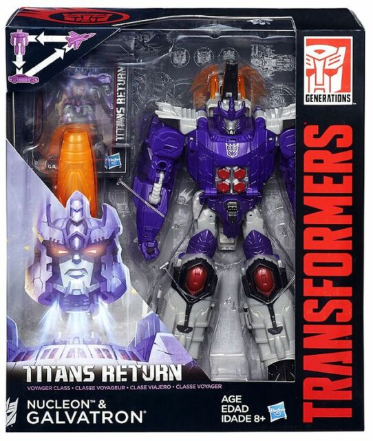 TRANSFORMERS TITANS RETURN VOYAGER CLASS DECEPTICON GALVATRON & NUCLEON