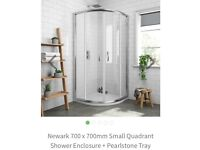 Brand new quadrant shower tray and enclosure, used for sale  Blackheath, London
