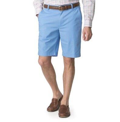 NWT Men's Chaps Poplin Flat-Front Bermuda Shorts - Blue 34, -