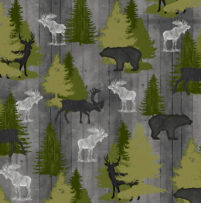 Moose Trail Lodge - FABRIC QT ~ MOOSE TRAIL LODGE ~ Audrey Jean Roberts (26683 K) by the 1/2 yard